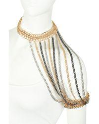 Topshop Premium Shoulder Piece Necklace - Lyst