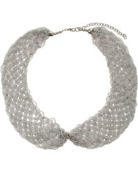 Topshop Seed Bead Peter Pan Necklace - Lyst