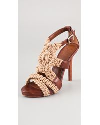 Tory Burch Fleur High Heel Sandals - Lyst
