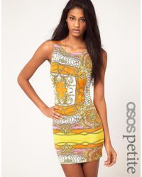 ASOS Collection Asos Petite Exclusive Mini Dress in Scarf Print - Lyst