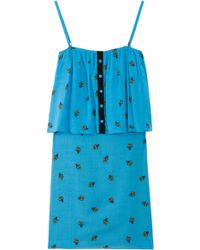 girl. by Band of Outsiders Strappy Flwr Pot Print Drs - Lyst