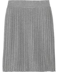 Halston Heritage Metallic Pleated Jersey Skirt - Lyst