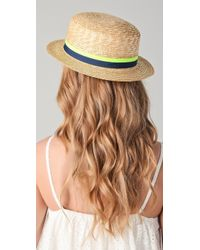 Juicy Couture - Straw Boater Hat - Lyst