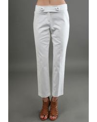 Milly Skinny Ankle Trouser 45 Off - Lyst