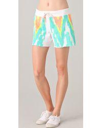 Monrow Print Shorts - Lyst
