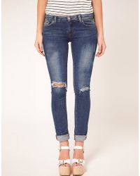 Washborn - Washborn Distressed Skinny Jeans - Lyst