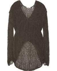 Helmut Lang Vintage Tape Open Knit Cotton Blend Sweater - Lyst