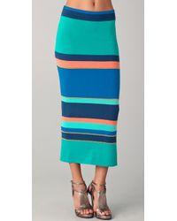 Torn By Ronny Kobo Ronny Striped Skirt - Lyst