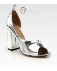 3.1 Phillip Lim Cody Metallic Leather Dorsay Peep Toe Pumps - Lyst