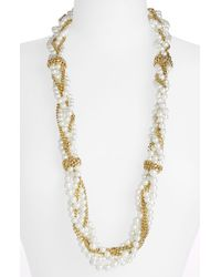 Givenchy Indus Glass Pearl Multistrand Necklace - Lyst