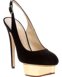 Charlotte Olympia Dolly Slingback Shoe - Lyst