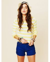 Free People Bright and Bold Cutoff Shorts - Lyst