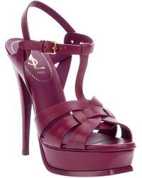 Saint Laurent Tribute Sandal purple - Lyst