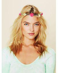 Free People Neon Fiona Flower Crown - Lyst