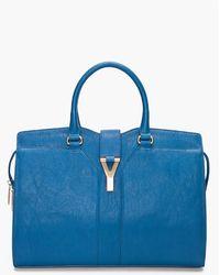 Saint Laurent Chinese Blue Chyc Eastwest Bag blue - Lyst