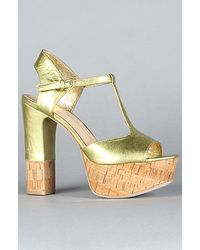 Dolce Vita The Baxter Shoe in Gold Leather - Lyst