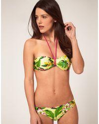Just Cavalli Bandeau Bikini Set In Tropical Print - Lyst