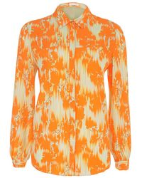 Matthew Williamson Floral Ikat Crepe De Chine Shirt - Lyst