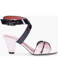 Marc By Marc Jacobs Blush Leather Bow Sandals - Lyst