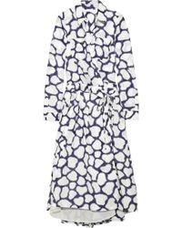 Diane von Furstenberg Zarita Long Dress blue - Lyst