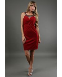 Sue Wong Twisted Knot Short Dress - Lyst