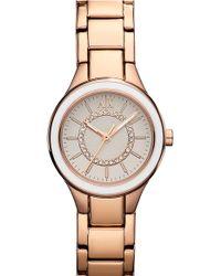 Armani Exchange Enamel Bezel Bracelet Watch - Lyst