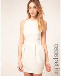 ASOS Collection Asos Petite Exclusive Tulip Dress with Textured Stripe - Lyst