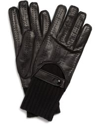 Burberry - Quintin Perforated Leather Gloves - Lyst