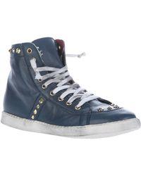 Chiara Ferragni Stud Hi Top Sneaker - Lyst