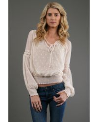 Free People Polka Dot Top in Ivory - Lyst