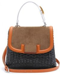 Fendi Silvana Bag With Snakeskin Handle - Lyst