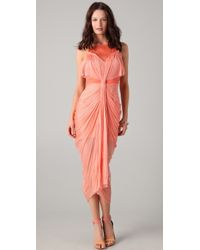 Willow Gathered Knot Tulle Dress - Lyst