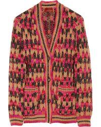 Missoni Colette Chunky Knit Wool Blend Cardigan - Lyst