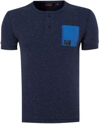 Duck and Cover - Speckled Henley Tshirt - Lyst