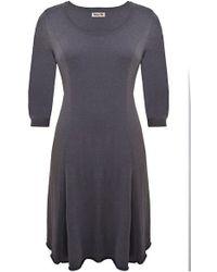 Lazy Lu - Grey Knit Dress - Lyst