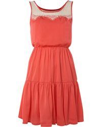 Maggie And Me - Lace Detail Tiered Dress - Lyst