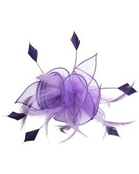 Minuet Petite - Purple Swirl Clip Fascinator - Lyst