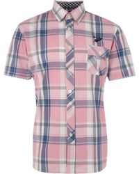Nza | Bold Check Short Sleeve Shirt | Lyst