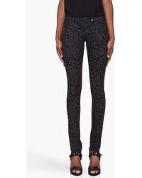 Preen Line - Grey Black Leopard Print Pants - Lyst