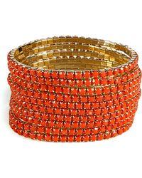 R.j. Graziano | Orange Set Of Ten String Bracelets | Lyst