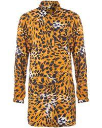 Vero Moda Very - Long Sleeve Leopard Print Shirt - Lyst