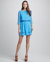 Alice + Olivia Petunia Bell Sleeve Dress - Lyst
