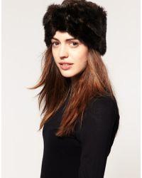 ASOS - Asos Faux Fur Turban Headband - Lyst