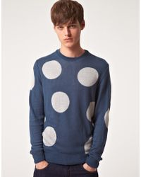 Asos Jumper with Large Polka Dots gray - Lyst