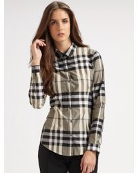 Burberry Checked Shirt - Lyst