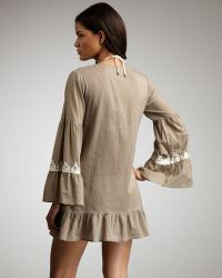 Debbie Katz - Sahara Embroidered Coverup - Lyst