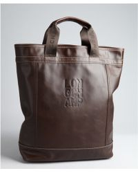 Longchamp  Leather Large Bucket Tote - Lyst