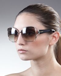 Roberto Cavalli Opentemple Sunglasses Rose Golden - Lyst
