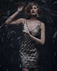 Sue Wong Scallop Sheath Dress - Lyst