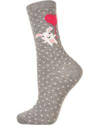 Topshop Bunny Ankle Socks - Lyst